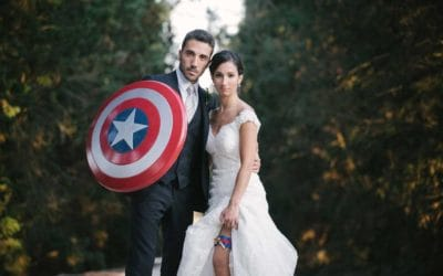 Superheroes destination wedding in Matera